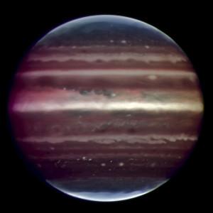 Exoplaneta X b v představách mimozemského malíře.